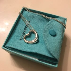 Tiffany & Co Elsa Peretti Open Heart Pendant